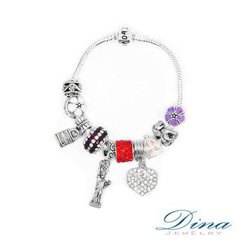 DINA JEWELRY 蒂娜珠寶 清心小花 潘朵拉風格 設計手鍊