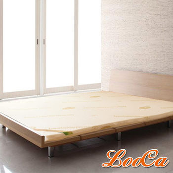 LooCa 旗艦網布5cm天然乳膠床墊(單大3.5尺)