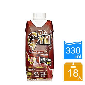 【愛之味】Dr.Gym專業無砂糖優質蛋白飲(濃黑巧克力口味)330ml(18瓶/箱)
