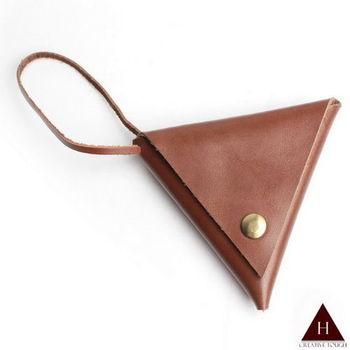 【H-CT】三角雙面設計款真皮零錢包(PO-HM01-Z)