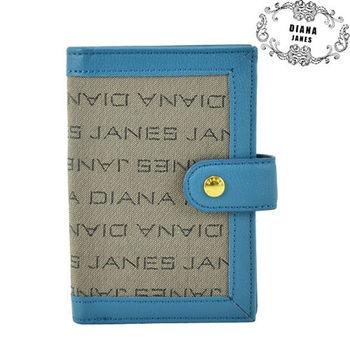 【Diana Janes 黛安娜】織布配牛皮直式多層中夾(共三色)