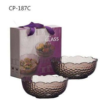 SYG台玻石紋玻璃沙拉碗-二入組