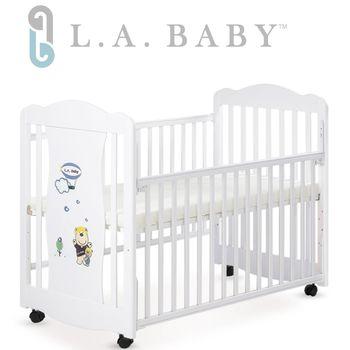 【美國 L.A. Baby】 奧蘭多嬰兒搖擺大床/童床-白色
