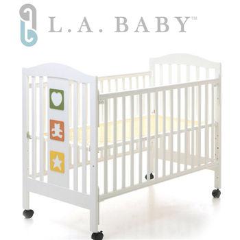 【美國 L.A. Baby】維吉尼亞嬰兒中床/原木床/童床(白色)