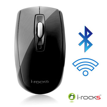 [福利品]i-Rocks IRM02B無線藍牙藍光光學滑鼠