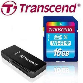 Transcend 創見 16GB Wi-Fi SD SDHC Class10 無線分享 記憶卡