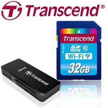 Transcend 創見 32GB Wi-Fi SD SDHC Class10 無線分享 記憶卡