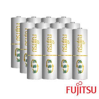 【日本Fujitsu富士通】AA 3號低自放電充電電池組(3號12入)
