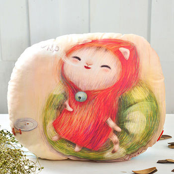 義大利Fancy Belle X furryfurry《幸福的聲音》數位造型抱枕 41*37CM