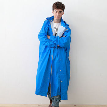 奧德蒙戶外機能特仕OutPerform-桑德史東繽紛全方位連身式風雨衣(T4)-暴風藍