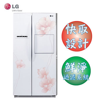 LG 樂金 花之賞系列 smart 直驅變頻對開冰箱 800公升 花樣白 型號GR-HL78M
