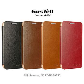 GUSTELL 谷斯特 Samsung S6 edge G9250 油蠟皮可立皮套