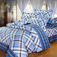 ~Indian~晶典雅品 純棉雙人床包 ^#43 枕套三件組 ^#40 藍 ^#41