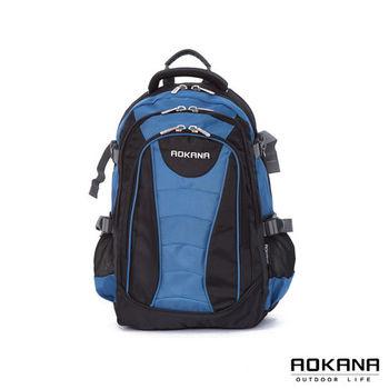 【AOKANA奧卡納】城市潮男 電腦後背包 防潑水背包(水藍68-048)