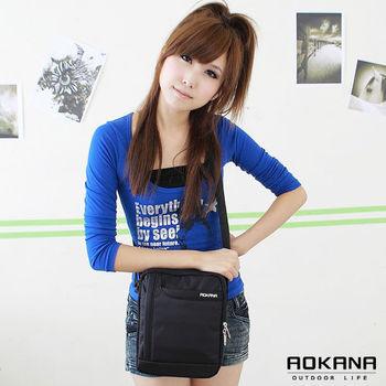 【AOKANA奧卡納】MIT台灣製 直式商務包 斜背包(黑色02-001)