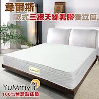 Yummyti韋爾斯獨立歐式三線天絲乳膠獨立筒 製床墊~單人加大3.5X6.2尺