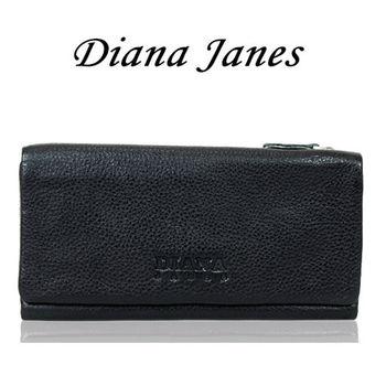 【Diana Janes 黛安娜】牛皮三折多層長夾