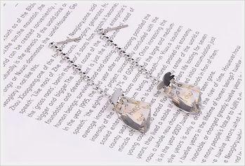 新光飾品-新款施華洛水晶透明耳環