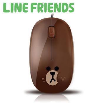 LINE FRIENDS 鏡面光學滑鼠-貪吃熊大(LN-L05)