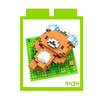 LOZ 鑽石積木-9434【卡通人物】-耳機拉拉熊