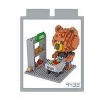 LOZ 鑽石積木 ^#45 9432~卡通人物~ ^#45 布朗熊