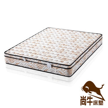 尚牛床墊 三線防蹣抗菌天絲棉布料硬式彈簧床墊-雙人特大6x7尺