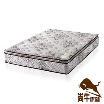 尚牛床墊 正三線乳膠涼爽舒柔布硬式彈簧床墊-雙人特大6x7尺