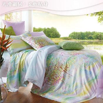 Sun Color 浪漫花語 嘉儷絲加大四件式鋪棉兩用被床包組