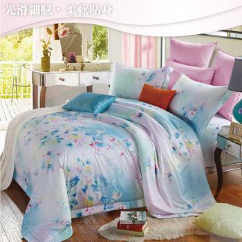 Sun Color 花之曲 嘉儷絲加大四件式鋪棉兩用被床包組