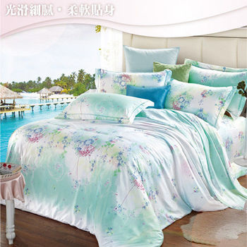 Sun Color 落英繽紛 嘉儷絲雙人四件式鋪棉兩用被床包組