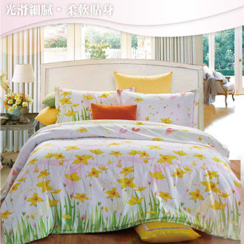Sun Color 醉美情緣 嘉儷絲雙人四件式鋪棉兩用被床包組