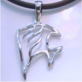 【米蘭精品】小金魚925純銀項鍊飾品墜子