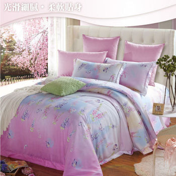 Sun Color 一見鍾情 嘉儷絲雙人四件式鋪棉兩用被床包組