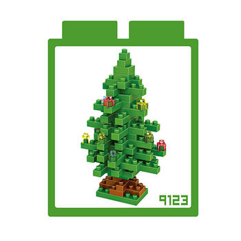 LOZ 鑽石積木-9123【聖誕節系列】-聖誕樹