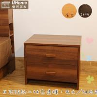 ~UHO~日式收納多 床邊櫃 ^#40 胡桃、原木色二色 ^#41
