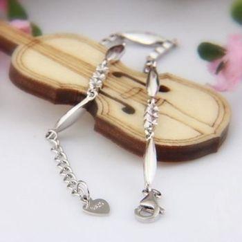 【米蘭精品】時尚簡約925純銀手鍊銀飾
