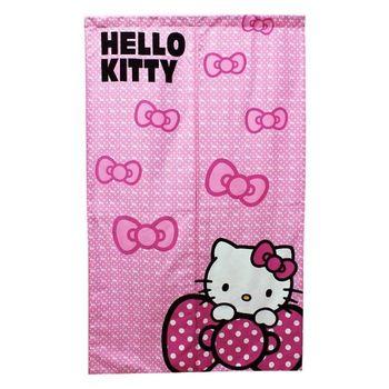 Hello Kitty蝴蝶結長門簾145x85cm(KT0229)