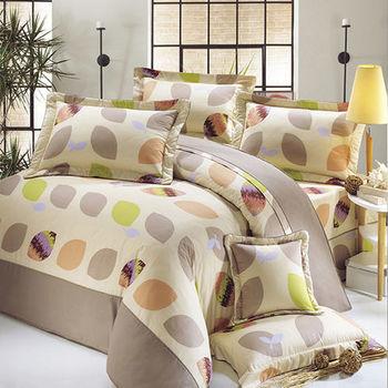 【Victoria】春光 純棉雙人床包+枕套三件組