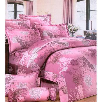【Victoria】花開富貴 純棉雙人床包+枕套三件組