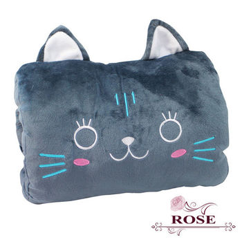 【ROSE】多功能可愛造型枕(小靠枕 午休枕 暖手枕)喵喵