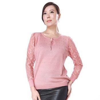 【A3】鏤空蕾絲舒適棉質 針織上衣