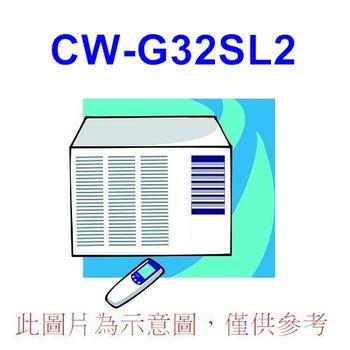 雙重送【Panasonic國際】5-7坪左吹窗型冷氣CW-G32SL2