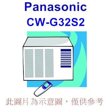 【Panasonic國際】5-7坪右吹窗型冷氣CW-G32S2