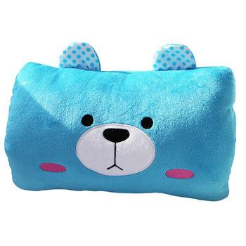 【ROSE】多功能可愛造型枕(小靠枕 午休枕 暖手枕)藍熊