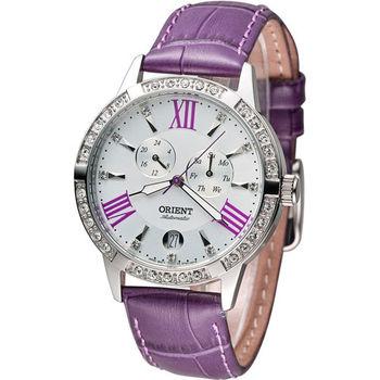 東方錶 ORIENT Elegant 璀璨時光機械錶 FET0Y004W 白x紫色