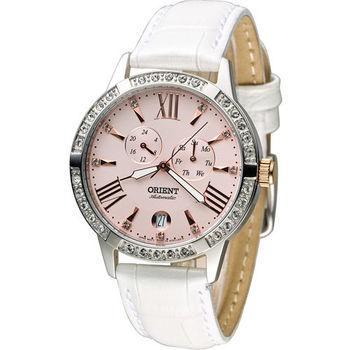 東方錶 ORIENT Elegant 璀璨時光機械錶 FET0Y003Z 粉x白