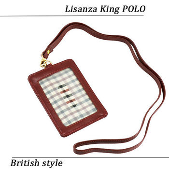 【Lisanza King Polo】格紋通勤專用識別證-綠格