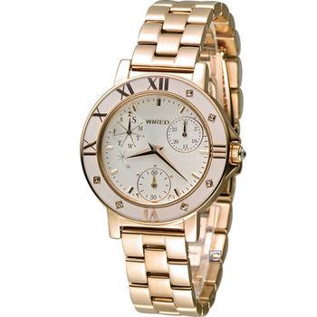 ALBA WIRED F 團團風格東京時尚腕錶 VD76-KD70K AP5020X1 玫瑰金色