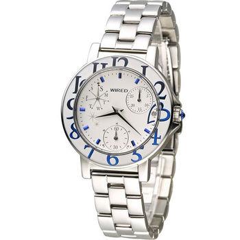 ALBA WIRED F 15週年團團風格東京時尚限量腕錶 VD76-KH80S AP5025X1 白x藍
