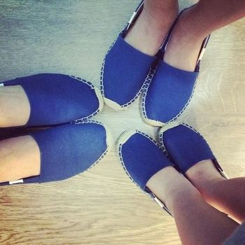 ☆現貨+預購☆美國品牌Soludos 時尚必敗草編鞋-深藍基本款草編鞋 (女)